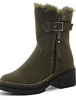cheap -Women's Shoes Rubber Winter Combat Boots Boots Round Toe For Outdoor Green Black