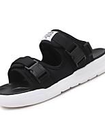 Для мужчин обувь Ткань Лето Удобная обувь Светодиодные подошвы Сандалии Назначение Повседневные Белый Черный Черно-белый