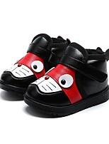 preiswerte -Mädchen Schuhe PU Winter Herbst Pelzfutter Flaum Futter Stiefel Booties / Stiefeletten Mittelhohe Stiefel Für Normal Kleid Schwarz Rot