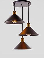 vintage metal metal pingente lâmpada 3 cabeça lustre sala de estar sala de jantar