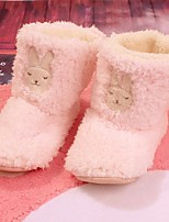 Women's Shoes Cotton Fall Winter Comfort Slippers & Flip-Flops For Casual Pink Light Purple