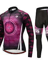 Cycling Jersey with Tights Unisex Long Sleeve Bike Clothing Suits Thermal / Warm Winter Sports Polyester Spandex Fleece Solid Fashion