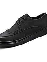 Men's Shoes PU Spring Fall Comfort Oxfords for Casual Black Gray Brown