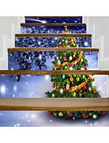 Рождество Наклейки 3D наклейки Декоративные наклейки на стены,Винил Украшение дома Наклейка на стену For Пол