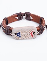 Men's Bracelet Bohemian China Leather Circle Jewelry For Casual Going out