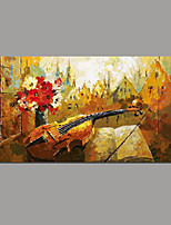 Hand-Painted Abstract Horizontal Panoramic,Simple Rustic Modern One Panel Canvas Oil Painting For Home Decoration