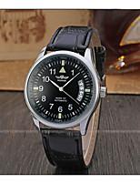 cheap -WINNER Men's Dress Watch Wrist watch Mechanical Watch Automatic self-winding Calendar / date / day Leather Band Luxury Vintage Casual Cool