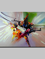 Hand-Painted Abstract Horizontal,Modern 1pc Canvas Oil Painting For Home Decoration