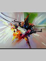 Peint à la main Abstrait Format Horizontal,Moderne 1pc Toile Peinture à l'huile Hang-peint For Décoration d'intérieur