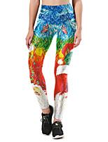 cheap -Women's Mid Rise Micro-elastic Slim Pants,Street chic Print Winter Spring/Fall