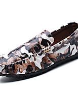 Homme Chaussures Polyuréthane Printemps Automne Confort Mocassins et Chaussons+D6148 Pour Café Vert Vin