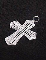 Men's Women's Sliders Pendants Cross Silver Vintage Oversized Jewelry For Party/ Evening Casual