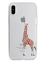 abordables -Funda Para Apple iPhone X iPhone 8 Plus Diseños Funda Trasera Logo Playing With Apple Caricatura Suave TPU para iPhone X iPhone 8 Plus