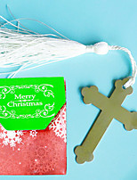 cheap -Cross Bookmark in Merry Christmas Favor Bag Beter Gifts®Birthday Keepsakes