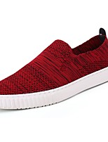Men's Shoes Tulle Fall Winter Comfort Loafers & Slip-Ons For Casual Red Black