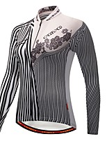 Cycling Jersey with Tights Women's Long Sleeve Bike Clothing Suits Thermal / Warm Winter Sports Polyester Spandex Fleece Solid Geometric