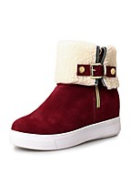cheap -Women's Shoes Leatherette Winter Fall Snow Boots Fashion Boots Boots Creepers Round Toe Booties/Ankle Boots For Casual Party & Evening