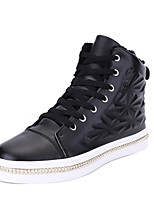 cheap -Men's Shoes Synthetic Microfiber PU Spring Fall Light Soles Sneakers For Casual Red Black White