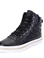 Недорогие -Для мужчин обувь Искусственное волокно Весна Осень Светодиодные подошвы Кеды Назначение Повседневные Белый Черный Красный