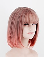 European and American Fashion Wigs Beauty Short Hair Bangs Mixed Color Red High-Temperature Wire