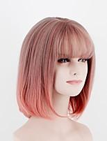 economico -Donna Parrucche sintetiche Pantaloncini Lungo Kinky liscia Pink + Red Parrucca naturale Parrucca per travestimenti