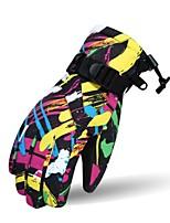 Недорогие -Лыжные перчатки Для пары Полный палец Сохраняет тепло Хлопок Лыжи Велоспорт Зима