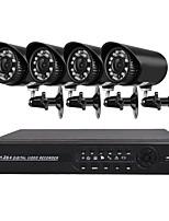 4 canais 1080n ahd sistema de câmera de segurança dvr com 4 câmeras 1.0mp à prova de intempéries com visão noturna