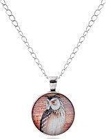 cheap -Men's Women's Bird Animals Cartoon Gothic Lovely Pendant Necklace Glass Alloy Pendant Necklace , Party Valentine
