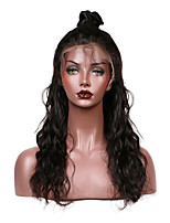 cheap -Brazilian Remy Glueless Lace Front Human Hair Wigs With Baby Hair Water Wave Pre Plucked Bleached Knots
