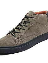 cheap -Men's Shoes PU Spring Fall Comfort Sneakers For Casual Khaki Gray Black
