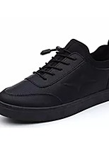 cheap -Men's Shoes PU Leatherette Winter Spring Comfort Sneakers For Casual Black
