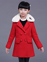 Girls' Solid Jacket & Coat,Cotton Polyester Long Sleeve