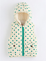 cheap -Girls' Dots Vest,Cotton Sleeveless Green