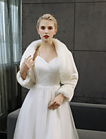 cheap -Long Sleeves Faux Fur Wedding Party / Evening Women's Wrap Shrugs