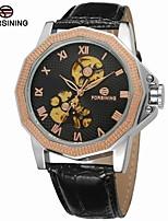 FORSINING Муж. Модные часы Нарядные часы Наручные часы С автоподзаводом С гравировкой Кожа Группа Винтаж Черный