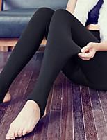 Women's Medium Solid Color Fleece Lined Legging,Solid