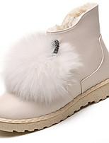 preiswerte -Damen Schuhe PU Frühling Herbst Komfort Stiefel Für Weiß Schwarz