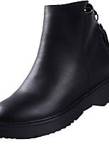 preiswerte -Damen Schuhe Gummi Winter Springerstiefel Stiefel Runde Zehe Für Schwarz