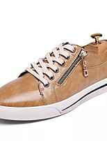 Men's Shoes Cowhide Spring Fall Comfort Sneakers For Casual Blue Brown Yellow