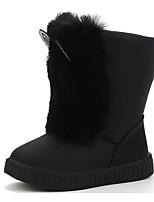 Недорогие -Девочки обувь Дерматин Зима Осень Удобная обувь Ботинки Для прогулок Ботинки Стразы Пом пом для Повседневные Белый Черный Винный