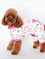 Кошка Собака Толстовка Пижамы Одежда для собак Сплошной На каждый день Для отдыха Животные Желтый Синий Розовый Костюм Для домашних