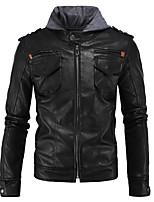 abordables -chaqueta protectora de cuero de la motocicleta de los hombres del engranaje delgado del protector de cuero de la capilla para el deporte