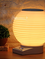 1 pc led nuit lumière tactile capteur usb port dc3.5 alimenté 18w lanterne fm wifi buletooth lecteur de musique