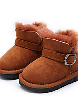 Boys' Shoes Real Leather Nubuck leather Fall Winter Comfort Snow Boots Boots For Casual Gray Orange Black