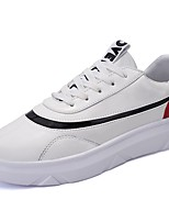 cheap -Men's Shoes PU Spring Fall Comfort Sneakers For Casual Black/Red White