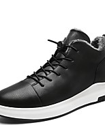 cheap -Men's Shoes Synthetic Microfiber PU Winter Light Soles Sneakers For Casual Black