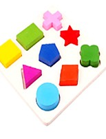 cheap -Wooden Puzzles Toys Plane Square Cut Family School New Design Kids Pieces