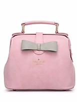 Women Bags PU Tote Zipper for Outdoor All Season Black Blushing Pink Gray