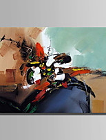 Hand-Painted Abstract Horizontal,Simple One Panel Canvas Oil Painting For Home Decoration