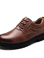 cheap -Shoes Cowhide Leather Spring Fall Driving Shoes Formal Shoes Comfort Oxfords for Casual Office & Career Black Brown Light Brown